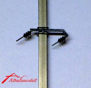 Fahrleitungsmast Freileitung 2 Leitungen Anzug