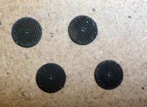 Schachtdeckel Rund Riffelstruktur (4 Stück)