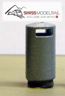 Abfalleimer Variante 2 Rund (H0)