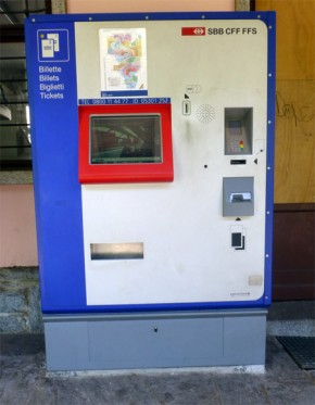 Billettautomat SBB breit H0
