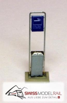 Aschenbecher SBB modern H0 (Fertigmodell)