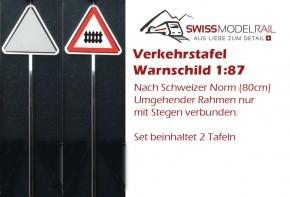 Verkehrstafel Warntafel 1:87 (2 Stück)