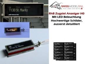 Zugziel Anzeiger RhB (nicht beleuchtet) H0