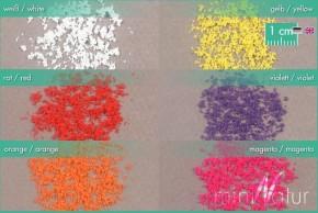Mininatur Blüten lose (6 Farben)